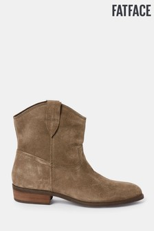 FatFace Brown Clova Suede Western Boots