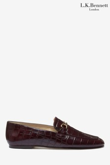 L.K.Bennett Red Marina Loafers