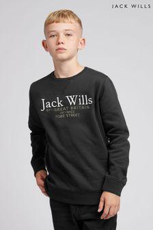 Jack Wills Boys Black Sweat Top