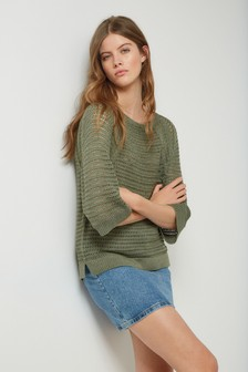 Metallic Crochet Jumper