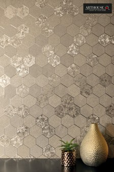 Foil Honeycomb Geo Wallpaper by Arthouse