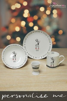Personalised Little Reindeer Breakfast Set by Signature PG