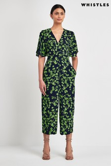 Whistles Navy Daisy Jumpsuit
