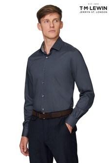 T.M. Lewin Premium Charcoal Slim Fit Single Cuff Shirt