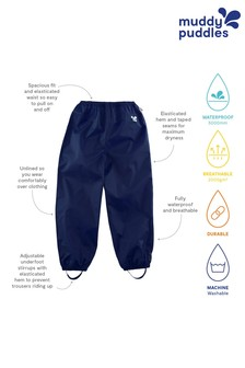 Muddy Puddles Navy Originals Waterproof Over Trousers