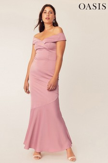 Oasis Pink Bardot Slinky Maxi Dress*