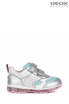 Geox Baby Girls Todo Silver Shoes