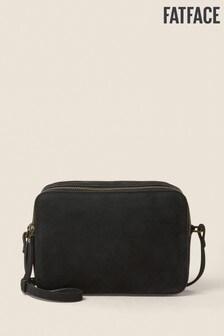 FatFace Black Dani Double Zip Cross Body Bag