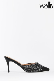 Wallis Black Pickle Toecap Mules