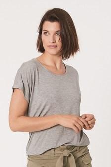 Embellished Neck Trim T-Shirt