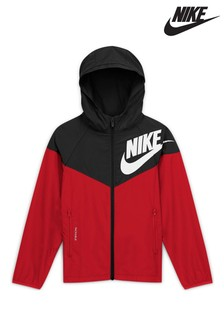 Nike Sportswear Black/Red Windrunner Jacket