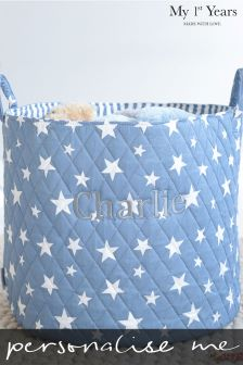 Personalised Embroidered Quilted Storage Basket by My 1st Years