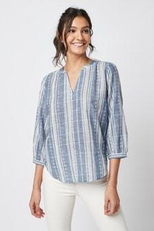 Блузка через голову с длинными рукавами