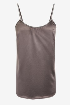 River Island Grey Diana Diamanté Cami