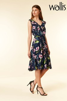 Wallis Blue Garden Floral Midi Dress