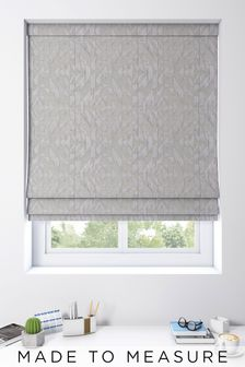 Lara Slate Grey Made To Measure Roman Blind