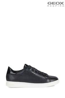 Geox Womens Jaysen Black Sneakers