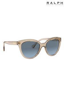 Ralph by Ralph Lauren Brown Transparent Sunglasses