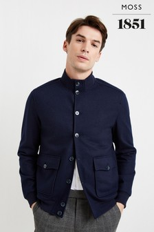 Moss 1851 Tailored Fit Navy Blouson Jacket