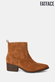 FatFace Tan Norley Western Ankle Boots