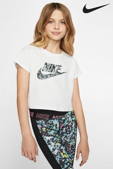 Nike Crop Printed Logo T-Shirt