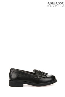 Geox Junior Girl's Agata Black Moccasin Shoes