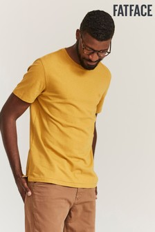 FatFace Yellow Lulworth Crew T-Shirt