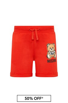 Girls Red Cotton Shorts
