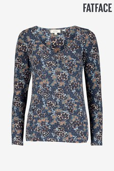 FatFace Casey Ink Floral Top