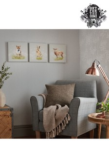 Set of 3 Woodland Animals Canvases by Art For The Home