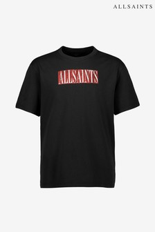 AllSaints Black And Red Crew Tee