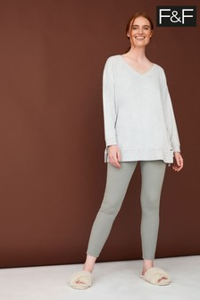 F&F Grey Mrs Hinch Oversized Jumper And Slim Fit Trousers Set