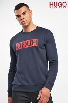 HUGO Blue Dicago Crew Sweatshirt