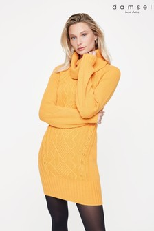 Damsel In A Dress Yellow Mathias Knitted Dress