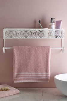 Ornate Pattern Shelf with Rail