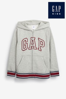 Gap Grey Logo Zip Hoody