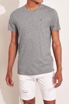 Hollister Grey Short Sleeve Logo T-Shirt