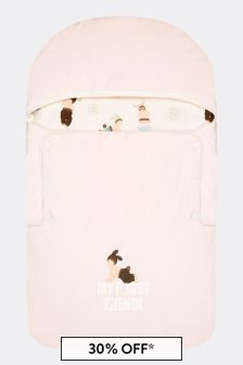 Fendi Kids Baby Girls Pink Cotton Nest