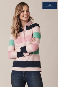 Crew Clothing Blue Carousel Stripe Rugby Shirt