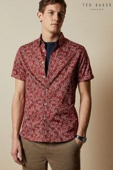 Ted Baker Red Yepyep Floral Print Shirt