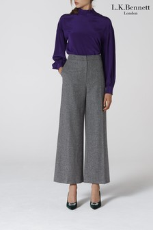 L.K.Bennett Grey Frances Wool Trousers