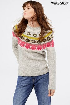White Stuff Grey Neon Frost Jumper