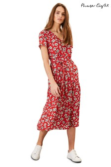 Phase Eight Red Daisy Floral Dress