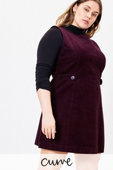 Oasis Purple Curve Cord Shift Dress