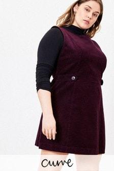 Oasis Purple Curve Cord Shift Dress