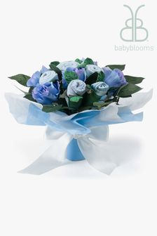 Babyblooms Blue Baby Clothes Bouquet