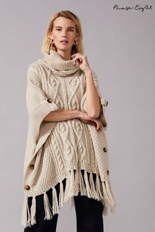 Phase Eight Beige Carys Cable Poncho