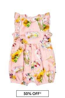 Molo Baby Girls Pink Cotton Babygrow
