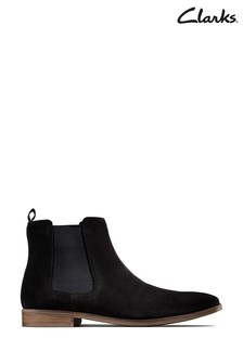 Clarks Black Suede Stanford Top Boots