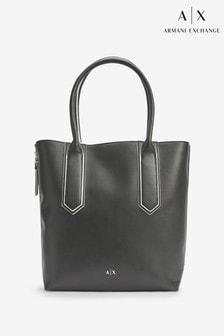 Черная сумка-шоппер Armani Exchange